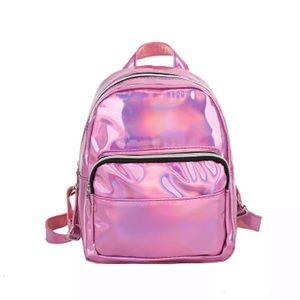 Handbags - NEW!! 💖 PINK HOLO MINI BACKPACK